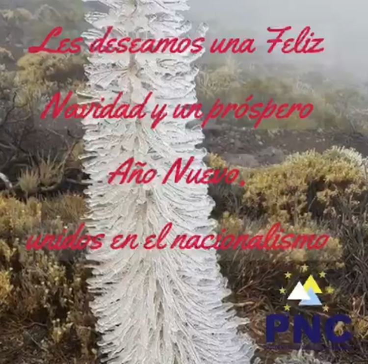 Felicitación de navidad del PNC